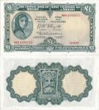 1957 (12 VI), 1 pound (P-57c.4) - Irlanda - stare XF+++/aUNC!