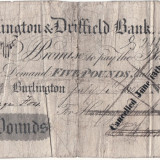 1851 (anulată 13 VI 1854), 5 pounds - Burlington & Driffield