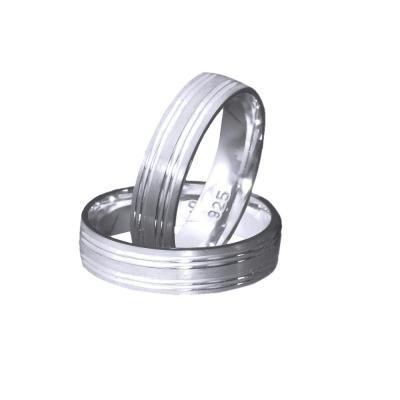 Inel argint 925 rodiat model verigheta toate marimile foto mare