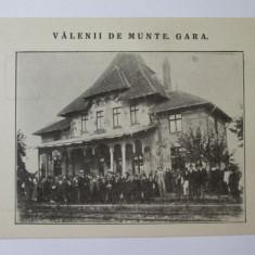 Carte postala necirculata Valenii de Munte-Gara( anii 20),in stare f.buna, Printata