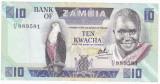 ZAMBIA 10 kwacha ND 1980-1988 VF  P-26d