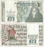 1988 (26 IV), 1 pound (P-70d.2) - Irlanda! (CRC: 82%)