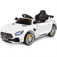 Masinuta electrica cu telecomanda Toyz Mercedes AMG GTR 2x6V White