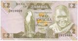 ZAMBIA 2 kwacha ND 1980-1988 VF  P-24a
