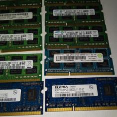 Ram 4 Gb DDR3 Laptop PC3-12800S / 1600 Mhz /intr-un singur modul / Testate, DDR 3, Dual channel