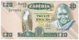 ZAMBIA 20 kwacha ND 1980-1988 VF-XF  P-27d