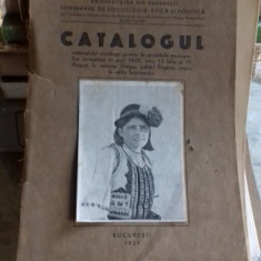 Catalogul materialului sociologic privitor la cercetarile monografice intreprinse in anul 1929, in comuna Dragus