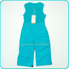 NOI → Pantaloni—salopeta iarna, grosi, impermeabili, C&A → fete | 2—3 ani| 98 cm, Alta, Turcoaz