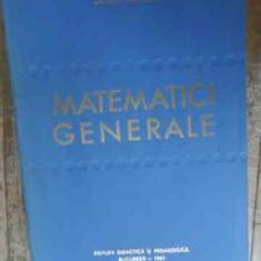 Matematici Generale - Romulus Cristescu ,539301