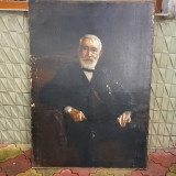 TABLOU ,PICTURA ,MAGHIAR (UNGUR -G.GYULA  ) - PORTRET DE GROF 1912, Portrete, Ulei, Realism