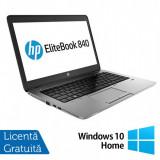 Laptop Refurbished HP EliteBook 840 G1, Intel Core i5-4200U 1.60GHz , 8GB DDR3, 128GB SSD, Webcam, 14 inch + Windows 10 Home
