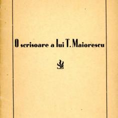 George Juvara - O scrisoare a lui Titu Maiorescu 1942  Iasi