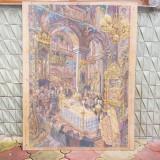 EUGEN STEFAN BOUSCA  - SLUJBA DE INMORMANTARE A MAMEI ARTISTULUI-tehnica mixta, Religie, Pastel, Realism