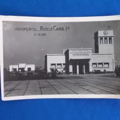 CARTE POSTALA * AEROPORTUL ''REGELE CAROL II'' , CETATEA ALBA , 1940