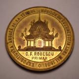 Medalie Targul Mosilor - Expozitiunea Anuala din Bucuresti 1904 Primar Robescu