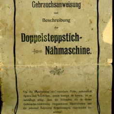 Manual prospect utilizare masina de cusut Hermann Kohler - Saxonia A si B 1880