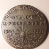 Medalie Mihai Eminescu Genial Poet al Poporului Roman