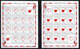 Romania 2001, LP 1542 b, Martisor, coli de 14+2 viniete, MNH! LP 200,00 lei, Sarbatori, Nestampilat