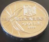 Moneda 500 Lei - ROMÂNIA, anul 1999 *cod 3642 --- A.UNC DIN SACULET BNR! ECLIPSA, Aluminiu