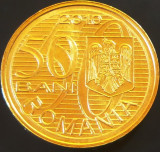 Moneda 50 BANI - ROMANIA, anul 2010   *cod 1177  -  UNC DIN FASIC BNR