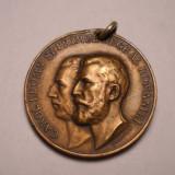 Medalie Regele Carol I Intrunirea in capitala a tuturor Primarilor din Tara 1906