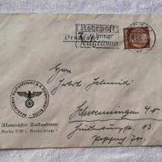 PLIC WW2 german 1940 STAMPILA REICH document de Colectie si cu alte detalii RAR