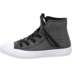 Tenisi Copii Converse High CT AS 661850C, 28, 29, 30, 31, 32, 33, 34, 35, 36, 37, 38, Negru