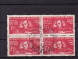 ROMANIA 1948  LP 247 - 130 DE ANI NASTEREA  BALCESCU BLOC DE 4  TIMBRE  PRIMA ZI, Stampilat
