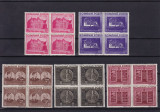 ROMANIA 1941  LP 143  FUNDATIA CAROL I  BLOCURI  DE 4  TIMBRE  MNH, Nestampilat
