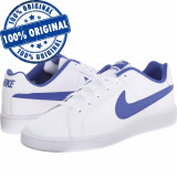 Pantofi sport Nike Court Royale pentru barbati - adidasi originali - piele, 40.5, 42.5, 44, 44.5, Alb, Piele naturala