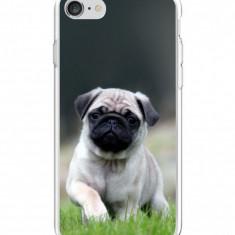 Husă Dog Pug APPLE Iphone 7, Alta, Silicon, Husa