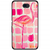 Husă Abstract Flamingo Painting Sony Xperia E4 E2104 5, Silicon, Husa