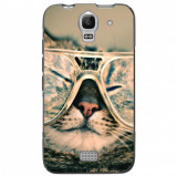 Husă Hipster Cat HUAWEI Ascend Y360, Alta, Silicon, Husa