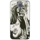 Husă Abstract Dark Witch Skull Drawing SAMSUNG Galaxy S5, Silicon, Husa
