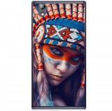 Husă Native Indian Girl Lenovo P70, Alta, Silicon, Husa