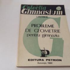 I PETRICA PROBLEME DE GEOMETRIE PENTRU GIMNAZIU-RF13/3