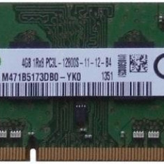 Memorie ram laptop Sodimm Samsung 4Gb DDR3 1600Mhz PC3L-12800S, 1.35V, Low