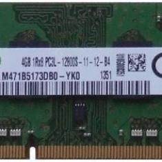 Memorie laptop Sodimm Samsung 4Gb DDR3 1600Mhz PC3L-12800S, 1.35V, M471B5173DB0