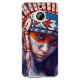 Husă Native Indian Girl HTC One M9, Alta, Silicon, Husa