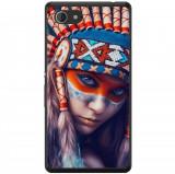 Husă Native Indian Girl Sony Xperia E3, Alta, Silicon, Husa