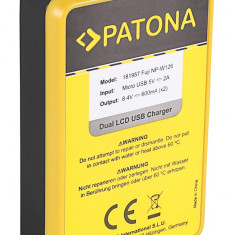 PATONA   Incarcator DUAL USB cu display LCD pt Fuji NP-W126