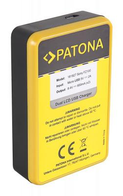 PATONA | Incarcator DUAL USB cu display LCD pt Sony NP-FZ100 foto