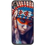 Husă Native Indian Girl HTC Desire 728, Alta, Silicon, Husa