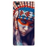 Husă Native Indian Girl HUAWEI Ascend P8 Lite, Alta, Silicon, Husa