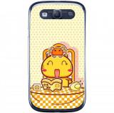 Husă Happy Hamicat Cartoon Food Samsung Galaxy S3 Neo I9301 S3 I9300, Silicon, Husa
