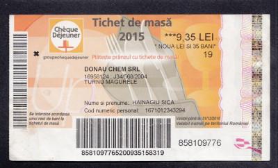 A4143 Bon Tichet masa 9.35 lei 2015 Danau Chem srl foto