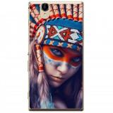 Husă Native Indian Girl Sony Xperia T2 Ultra, Alta, Silicon, Husa