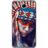 Husă Native Indian Girl HTC Desire 516, Alta, Silicon, Husa