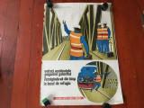 Afis din perioada comunista - protectia muncii CFR !!!