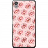 Husă Pink Donuts Pattern Sony Xperia X Performance, Silicon, Husa
